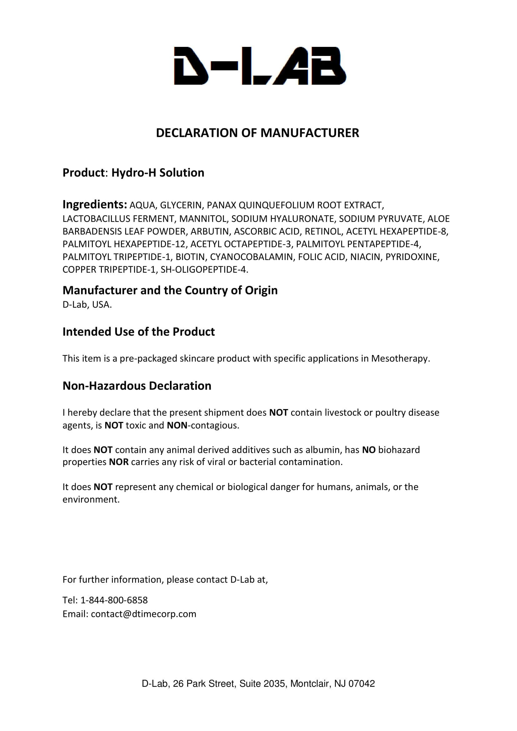 PSRMESO Manufacturers Hydro-H-1 | PSRMESO